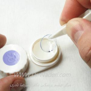 گذاشتن لنز تماسی نرمSoft Contact lens